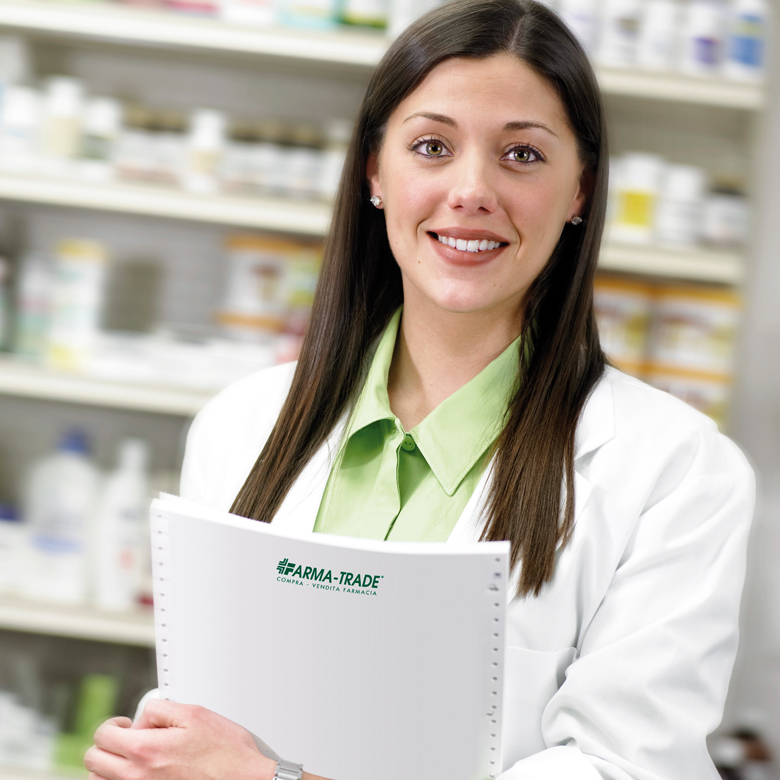 Pharmacist with Paperwork